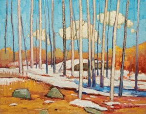"""Spring Thaw,"" by Nicholas Bott 11 x 14 - oil $1380 Unframed"