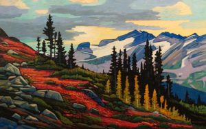 "SOLD ""Whistler High Grounds,"" by Nicholas Bott 30 x 48 - oil $6850 Unframed"