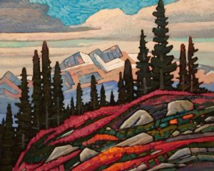 "SOLD ""Whistler Wild Flowers,"" by Nicholas Bott 16 x 20 - oil $2200 Unframed"