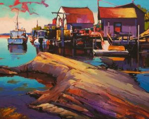 """A Midsummer Dream, Blue Rocks, Nova Scotia,"" by Mike Svob 24 x 30 - acrylic $4560 Unframed"