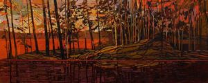 SOLD No. 2087, by Bob Kebic 24 x 60 – oil $5040 Unframed