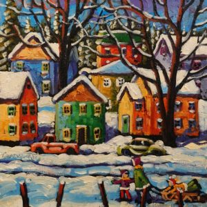 "SOLD ""The Air is Crisp"" by Rod Charlesworth 10 x 10 - oil $830 Unframed"