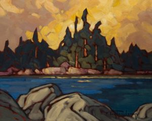 """Canoe Lakeshore"" by Phil Buytendorp 8 x 10 - oil $625 Unframed"