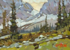 """Cascade Mt. Slope"" by Graeme Shaw 5 x 7 - oil $430 Unframed"