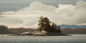 "SOLD ""Coastal Atmosphere"" by Ray Ward 8 x 16 - oil $1100 Unframed"
