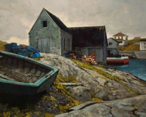 """Fisherman's Corner,"" by Min Ma 24 x 30 - acrylic $4460 Unframed"