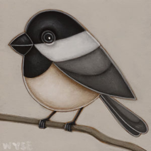 """""""Hello"""" by Peter Wyse 6 x 6 - acrylic $400 (unframed panel with 1 1/2"""" edging)"""