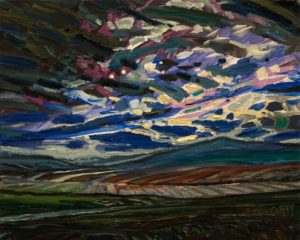 "SOLD ""Hills at Dusk"" by Steve Coffey 8 x 10 - oil $740 Unframed"