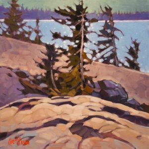 """July, Great Slave Lake"" by Graeme Shaw 12 x 12 - oil $685 Unframed"