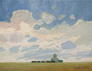 "SOLD ""Late Summer Harvest"" by Steve Coffey 7 x 9 - oil $660 Unframed"