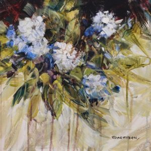 """Mock Orange"" by Janice Robertson 12 x 12 - acrylic $730 Unframed"