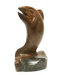 """Morning Catch,"" by Marilyn Armitage 11 1/2"" (H) x 8"" (L) - soapstone $950"
