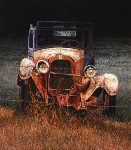 "SOLD ""No Escape,"" by Alan Wylie 14 x 16 - acrylic $3075 Unframed"
