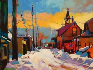 """Princeton Snow"" by Mike Svob 12 x 16 - acrylic $1415 Unframed"