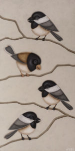"""""""The Quartet"""" by Peter Wyse 12 x 24 - acrylic $1440 (unframed panel with 1 1/2"""" edges)"""