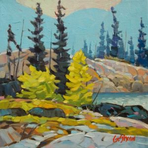 "SOLD ""Quiet Backwater"" by Graeme Shaw 8 x 8 - oil $470 Unframed"