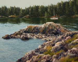 """Shelter Cove"" by Merv Brandel 8 x 10 - oil $900 Unframed"