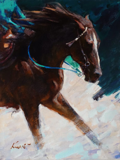 """The Show Winner"" by Clement Kwan 9 x 12 - oil $1650 Unframed"