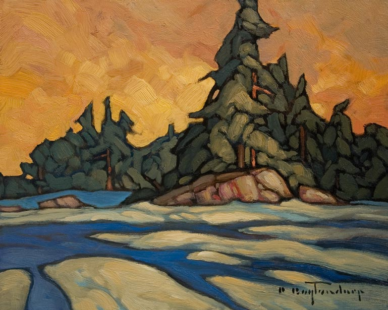 """""""Slithering Drifts"""" by Phil Buytendorp 8 x 10 - oil $625 Unframed"""