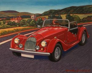 "SOLD ""Weekend Drive"" by Michael Stockdale 8 x 10 - acrylic $425 Unframed"