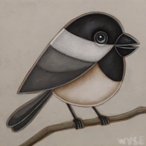 """""""The Whistler"""" by Peter Wyse 6 x 6 - acrylic $400 (unframed panel with 1 1/2"""" edging)"""