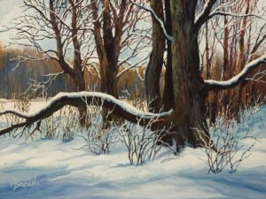 """Winter Blanket"" by Merv Brandel 9 x 12 - oil $1025 Unframed"