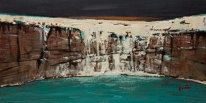"""Winter Cliffs"" by Min Ma 4 x 8 - acrylic $550 Unframed"