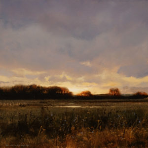 "SOLD ""Woolrich Field - Study"" by Renato Muccillo 6 x 6 - oil $1600 Custom framed"