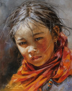 "SOLD ""Young Soul"" by Donna Zhang 11 x 14 - oil $1420 Unframed"