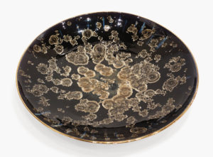 "Bowl (BB-4437) by Bill Boys crystalline-glaze ceramic - 21"" (W) $1100"