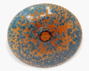 "Wall-hang plate (BB-4440) by Bill Boyd crystalline-glaze ceramic - 21"" (W) $950"