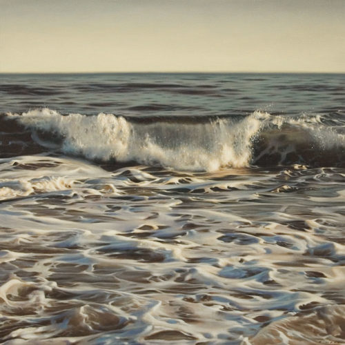 """Foreshore Rhythm,"" by Ray Ward 30 x 30 - oil $4275 (thick canvas wrap)"
