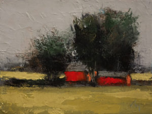 "SOLD ""A l'Ombre"" (In the Shade) by Robert P. Roy 9 x 12 - oil $490 Unframed"