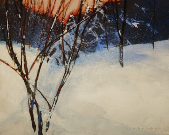 """Midwinter Morning,"" by David Lidbetter 8 x 10 - oil $900 Unframed"