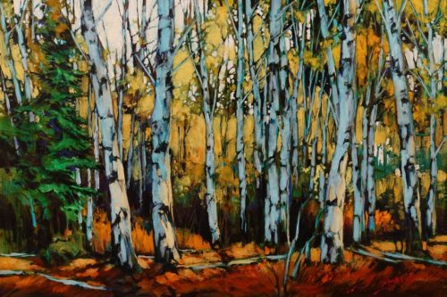 """""""Moving In,"""" by David Langevin 16 x 24 - acrylic $1630 Unframed"""