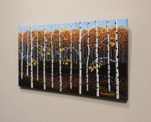 """1/2"""" panel with artwork continuing onto edges, Peter McConville"""