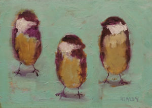 "SOLD ""Three Friends"" by Paul Healey 5 x 7 - oil $275 Unframed"