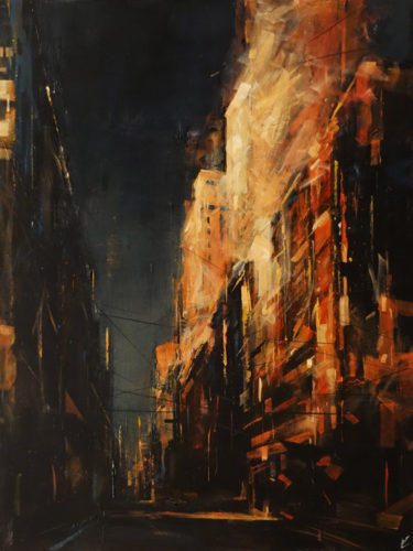 "SOLD ""The First Light,"" by William Liao 30 x 40 - oil $3600 Unframed"