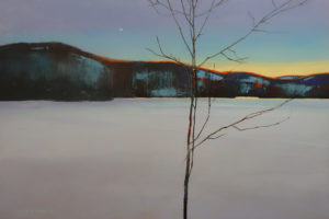 "SOLD ""First Pale Hint,"" by David Lidbetter 24 x 36 - oil $3375 (thick canvas wrap)"