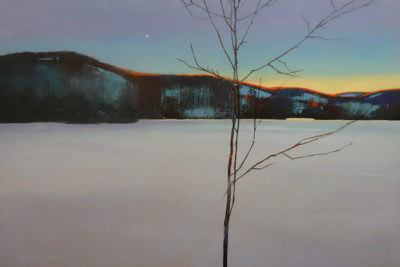 """First Pale Hint,"" by David Lidbetter 24 x 36 - oil $3375 (thick canvas wrap)"