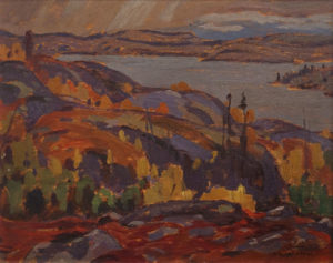 """""""Jackfish Bay"""" (1922) by A.Y. Jackson 8 1/2 x 10 1/2 - oil on panel"""