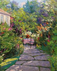 """Back Garden,"" by Min Ma 24 x 30 - acrylic $4460 Unframed"