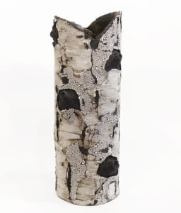 "SOLD ""With all my heart"" (BEBL 102) by Bev Ellis ceramic - 19"" (H) x 7"" (W) $390"