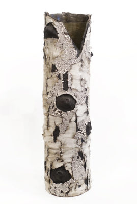 "SOLD ""Breathe"" (BEBL 97) by Bev Ellis ceramic - 27.5"" (H) x 7"" (W) $570"