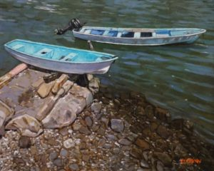 """""""The Boats of Zihuatanejo, Mexico,"""" by Graeme Shaw 16 x 20 - oil $1265 Unframed"""