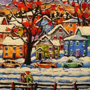 """Colours and Snow,"" by Rod Charlesworth 10 x 10 - oil $830 Unframed"
