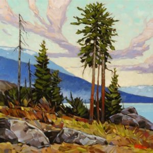 """Courtenay Slope View,"" by Graeme Shaw 20 x 20 - oil $1760 Unframed"