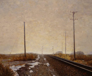 "SOLD ""A Foggy Day,"" by Min Ma 30 x 36 - acrylic $5100 Unframed"
