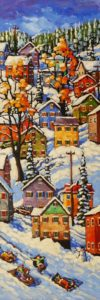 "SOLD ""Hillside Colours,"" by Rod Charlesworth 12 x 36 - oil $2230 Unframed"