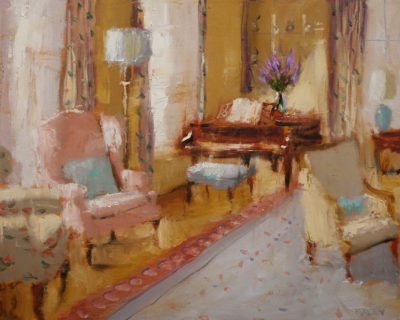 """""""Piano and Sunlight,"""" by Paul Healey 16 x 20 - oil $1250 Unframed"""